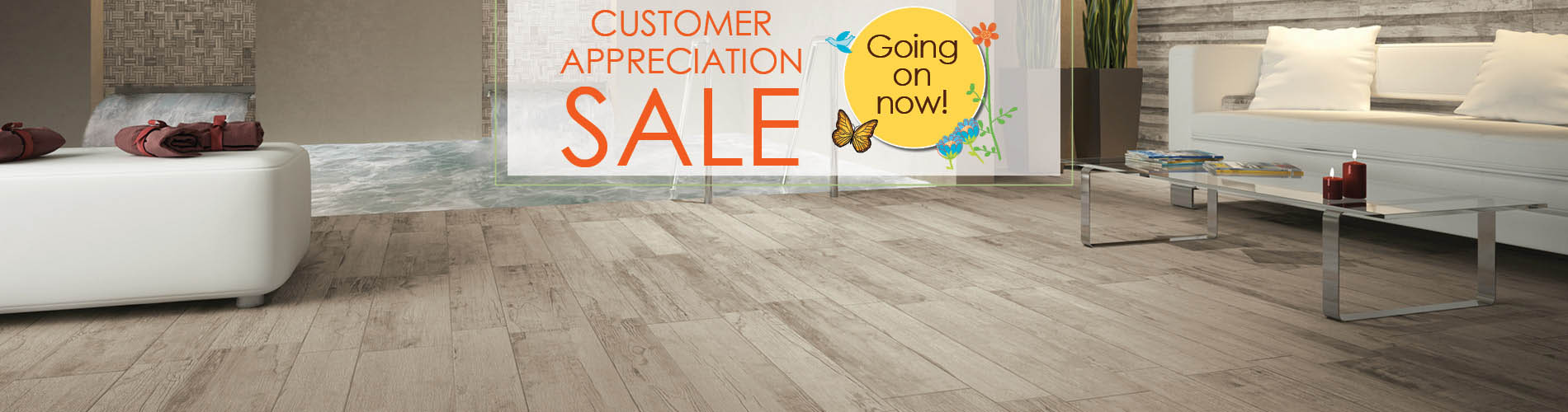 Save big on flooring this month during the Customer Appreciation Sale at Abbey Carpet & Floor!