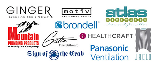 Accessories Manufacturers - Ginger, Motiv, Atlas Homewares, Brondell, Mountain Plumbing Products, Gatco, Healthcraft, Sign of the Crab, Panasonic Ventilation, Jaclo