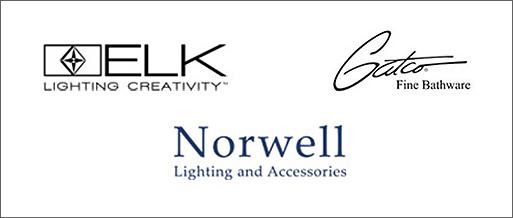 Lighting Manufacturers - Elk Lighting Creativity, Gatco, Norwell lighting and accessories